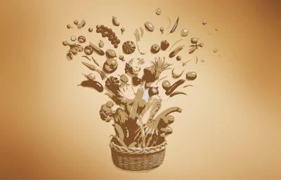Ein Blumenstrauss als Grafik. Steht für Konzept und Storyboard für Viral der Biofach Fachmesse