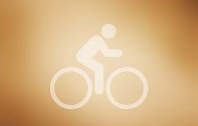 Ein Fahrrad als Piktogram. Es deutet den Viral Fahrrad an