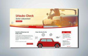 Mini Auto unten in Abbildung, ob in Foto ein Cabriolet. Die Online-Texte sind durch Textoptimierung bereits optimiert
