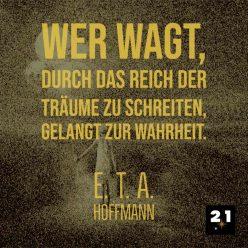 Social-Advertising, Generelles Social Media Post 21 Million Lights mit Zitat von E:TE:A: Hoffmann