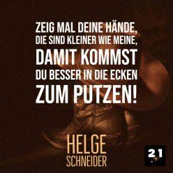 Social-Content, Generelles Social-Media-Post 21 Million Lights mit Zitat von Helge Schneider