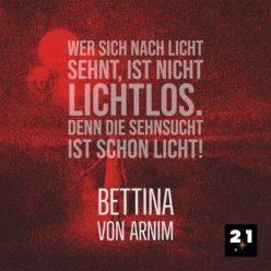 Generelles Social Media Post 21 Million Lights mit Zitat, Social-Advertising