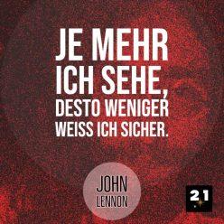 Social-Advertising , Generelles Social-Media Post 21 Million Lights mit Zitat John Lennon