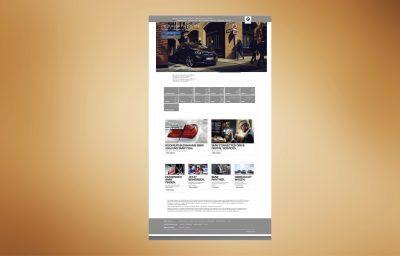 Screenshot einer BMW Internetseite, Marketingstrategie für Social Media Strategie folgend