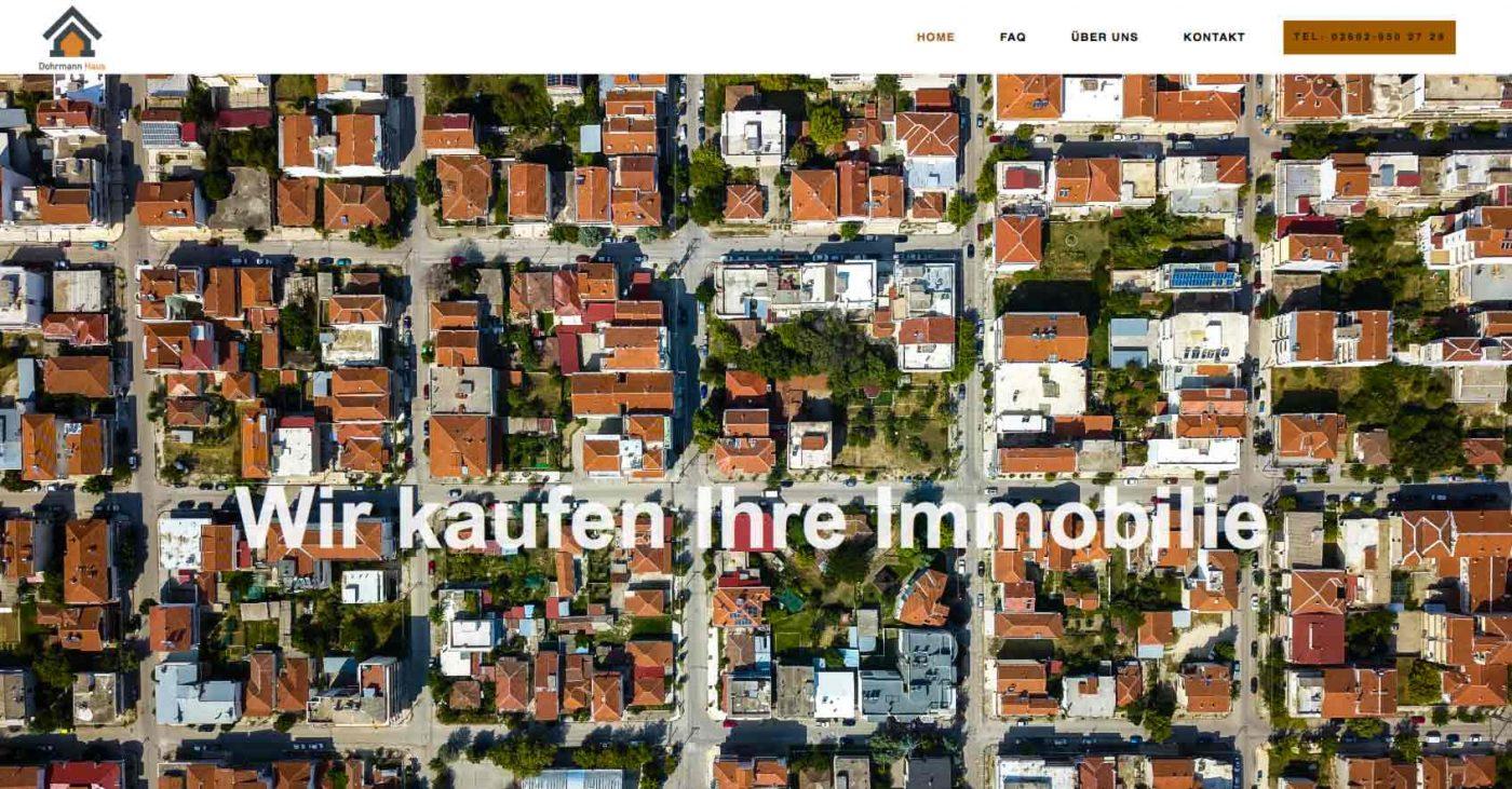 Immobilien und Internetauftriit …hier Screenshot der Internetseite