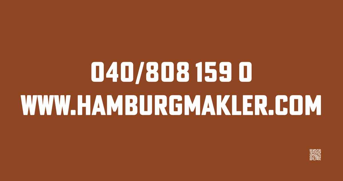 Plakat für Kampagne hamburgmakler